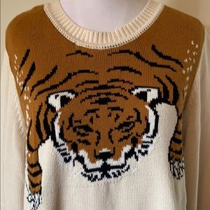 Forever 21 Plus Tiger Sweater Sz 1x
